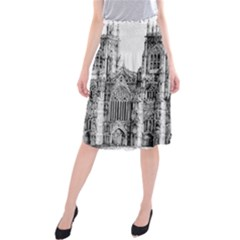 York Cathedral Vector Clipart Midi Beach Skirt