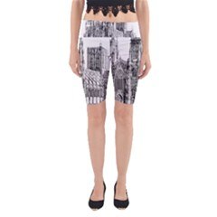 York Cathedral Vector Clipart Yoga Cropped Leggings
