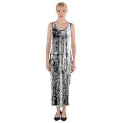 York Cathedral Vector Clipart Fitted Maxi Dress