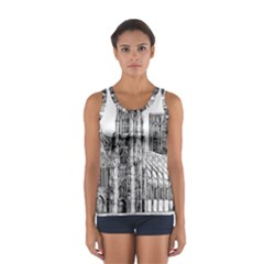 York Cathedral Vector Clipart Women s Sport Tank Top
