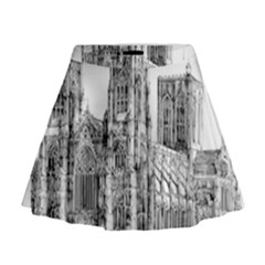 York Cathedral Vector Clipart Mini Flare Skirt