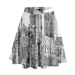 York Cathedral Vector Clipart High Waist Skirt