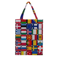Europe Flag Star Button Blue Classic Tote Bag