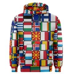 Europe Flag Star Button Blue Men s Pullover Hoodie