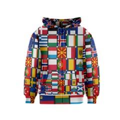 Europe Flag Star Button Blue Kids  Zipper Hoodie