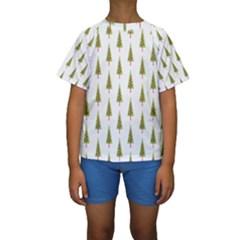 Christmas Tree Kids  Short Sleeve Swimwear