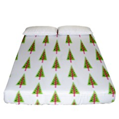 Christmas Tree Fitted Sheet (california King Size)