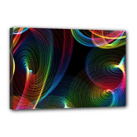 Abstract Rainbow Twirls Canvas 18  x 12