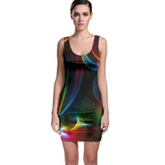 Abstract Rainbow Twirls Sleeveless Bodycon Dress