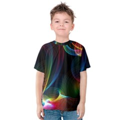 Abstract Rainbow Twirls Kids  Cotton Tee