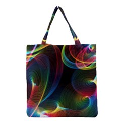 Abstract Rainbow Twirls Grocery Tote Bag