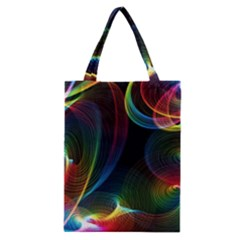 Abstract Rainbow Twirls Classic Tote Bag