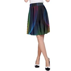 Abstract Rainbow Twirls A-Line Skirt