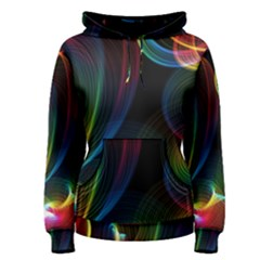 Abstract Rainbow Twirls Women s Pullover Hoodie