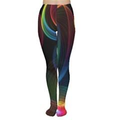 Abstract Rainbow Twirls Women s Tights