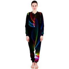 Abstract Rainbow Twirls OnePiece Jumpsuit (Ladies)