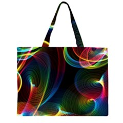 Abstract Rainbow Twirls Large Tote Bag
