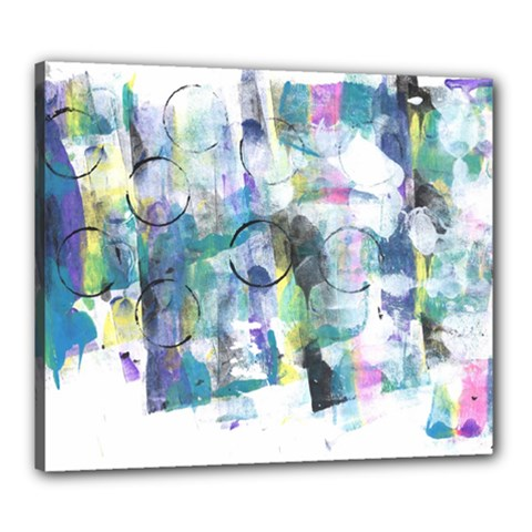 Background Color Circle Pattern Canvas 24  x 20