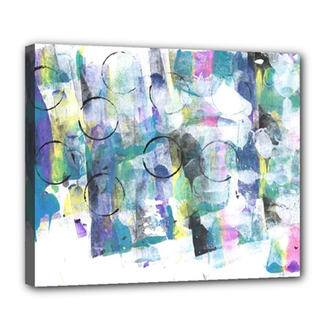 Background Color Circle Pattern Deluxe Canvas 24  x 20