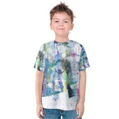 Background Color Circle Pattern Kids  Cotton Tee