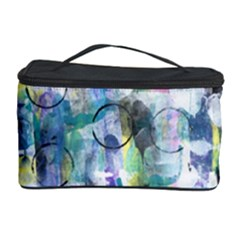 Background Color Circle Pattern Cosmetic Storage Case