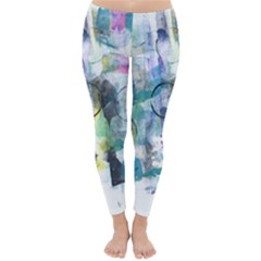 Background Color Circle Pattern Classic Winter Leggings