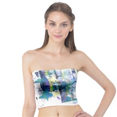 Background Color Circle Pattern Tube Top