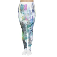Background Color Circle Pattern Women s Tights