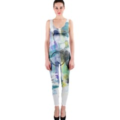 Background Color Circle Pattern OnePiece Catsuit