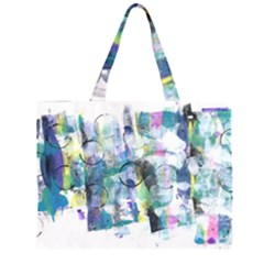 Background Color Circle Pattern Large Tote Bag