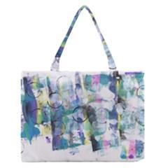 Background Color Circle Pattern Medium Zipper Tote Bag