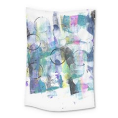 Background Color Circle Pattern Small Tapestry