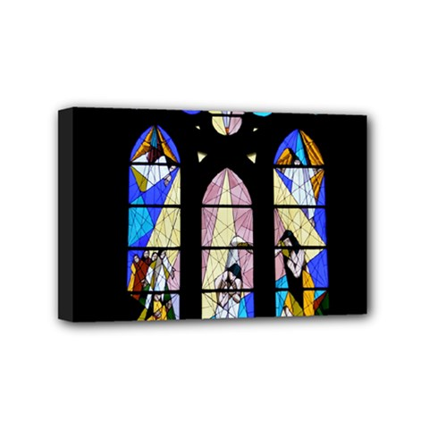 Art Church Window Mini Canvas 6  x 4