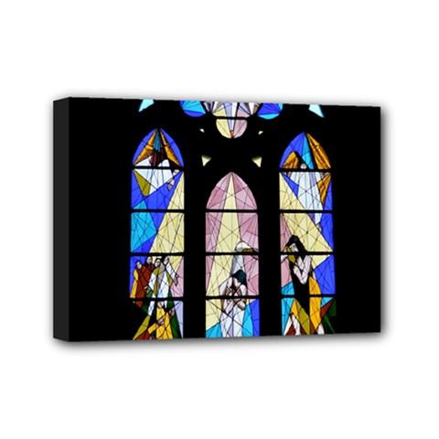 Art Church Window Mini Canvas 7  X 5