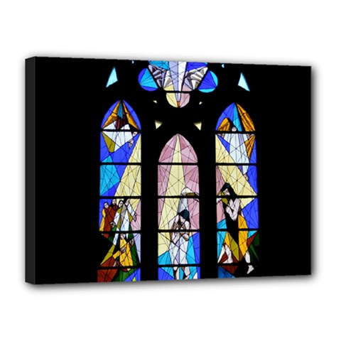 Art Church Window Canvas 16  x 12