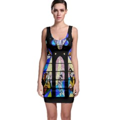 Art Church Window Sleeveless Bodycon Dress