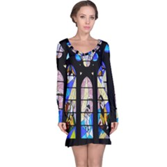 Art Church Window Long Sleeve Nightdress