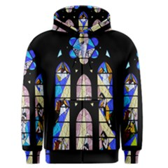 Art Church Window Men s Zipper Hoodie