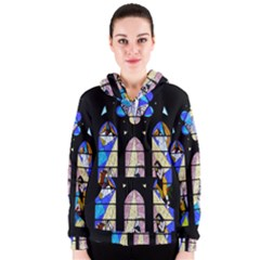 Art Church Window Women s Zipper Hoodie