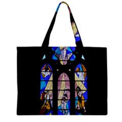 Art Church Window Zipper Mini Tote Bag
