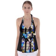 Art Church Window Babydoll Tankini Top