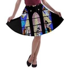 Art Church Window A-line Skater Skirt
