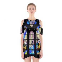 Art Church Window Shoulder Cutout One Piece
