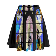 Art Church Window High Waist Skirt