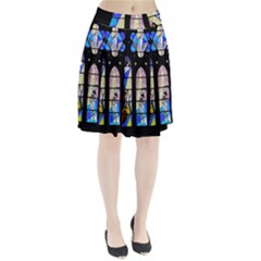 Art Church Window Pleated Skirt