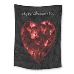 Dark Elegant Valentine Day Poster Medium Tapestry