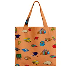 School Rocks! Zipper Grocery Tote Bag