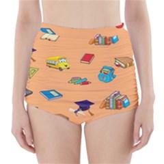 School Rocks! High-Waisted Bikini Bottoms