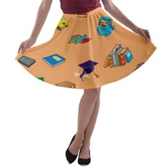 School Rocks! A-line Skater Skirt