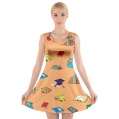 School Rocks! V-Neck Sleeveless Skater Dress